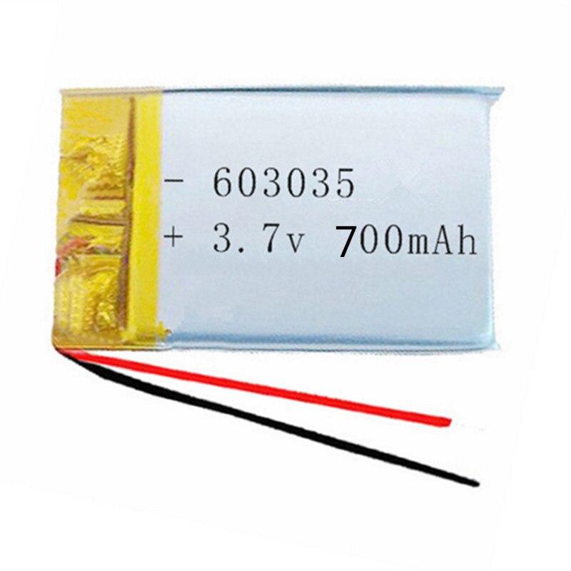 Darmowa wysyłka bateria polimerowa 700 mah 3.7 V 603035 inteligentny dom akumulator litowo-jonowy do dvr GPS mp3 mp4
