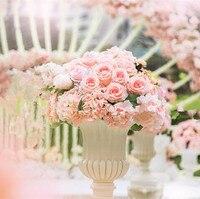 pink roses artifical wedding flower arrangement dia of 40cm flower bouquet wedding decoration Table centerpieces 4pcs/lot