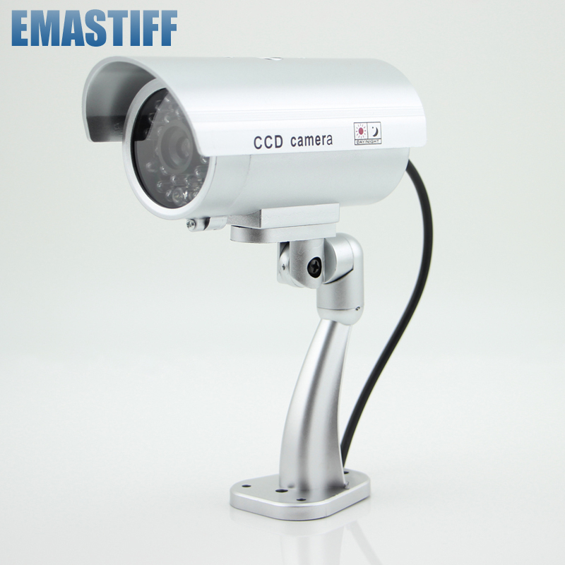 Latest Waterproof Dummy CCTV IP Camera With Flashing LED Light Outdoor Indoor Realistic Looking Fack Camera for Home Security wistino cctv camera metal housing outdoor use waterproof bullet casing for ip camera hot sale white color cover case