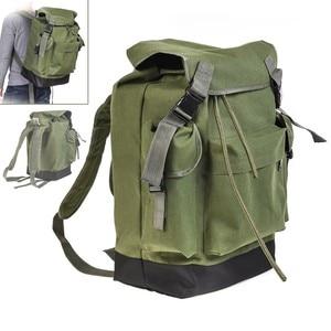 Image 1 - 70L Multifunctional Army Green Large Capacity Canvas Carp Fishing Bag Fishing Tackle Backpack