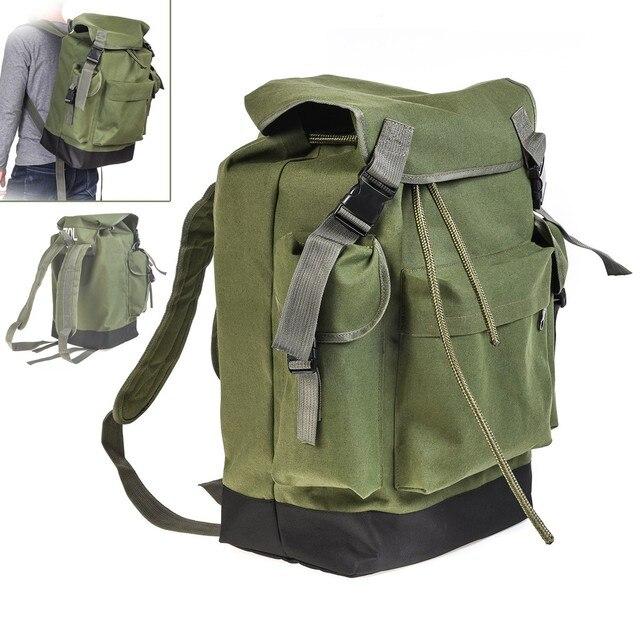 70L Multifunctional Army Green Large Capacity Canvas Carp Fishing Bag Fishing Tackle Backpack