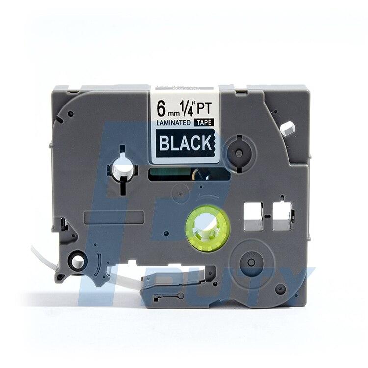 1PCS PUTY 6mm White on Black TZe-315 tz315 TZ-315 label tapes compatible for PT200 1000 D210 H110 E110 P-Touch label printers1PCS PUTY 6mm White on Black TZe-315 tz315 TZ-315 label tapes compatible for PT200 1000 D210 H110 E110 P-Touch label printers