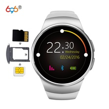 """696 KW18 Bluetooth Smartwatch 1.3"""" IPS LCD Watch Phone Support SIM TF Card Heart Rate Monitor Smart Watch for Men Women"""