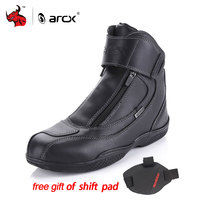 ARCX Motorcycle Boots Genuine Cow Leather Waterproof Street Moto Racing Boots Motorbike Chopper Cruiser Touring Riding Shoes