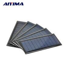 AIYIMA 5Pcs Solar Panels Solar Cells DIY Flexible Solar Battery Energy Plate 5.5V 60MA 90x38MM Panneau Solaire