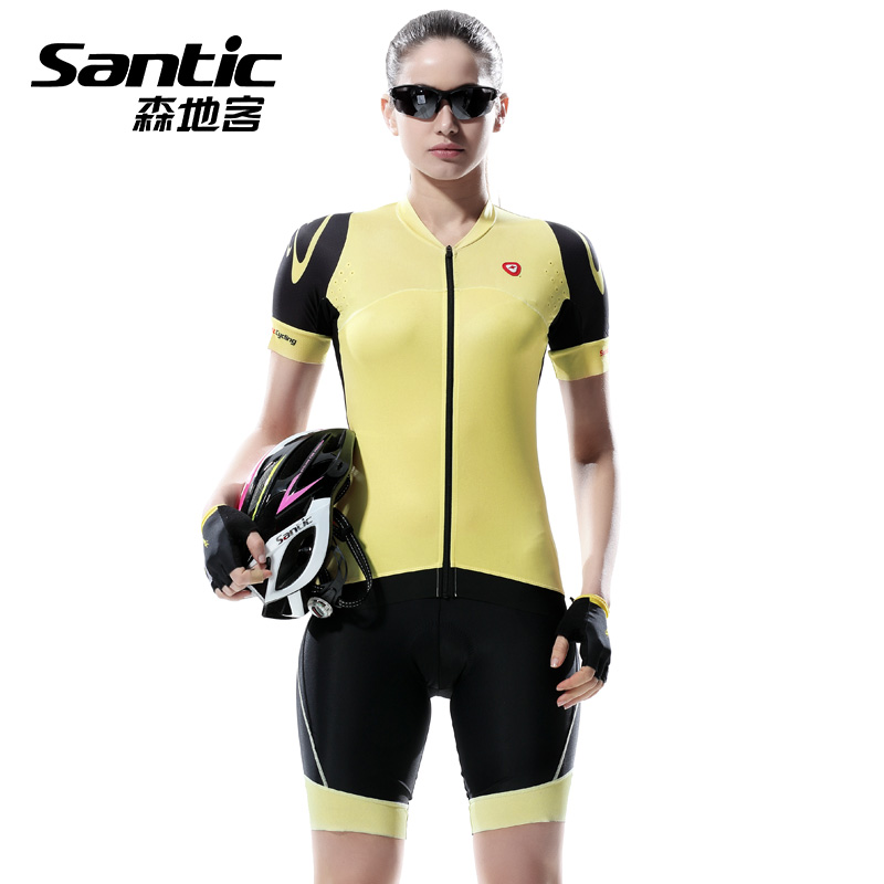 SANTIC Summer Women's Pro Bike Cycling Clothing Ropa Ciclismo MTB Bicycle Clothes Wear Cycling sets Racing Cycling Jersey Sets 2016 custom roupa ciclismo summer any color any size any design cycling jersey and diy bicycle wear polyester lycra cycling sets
