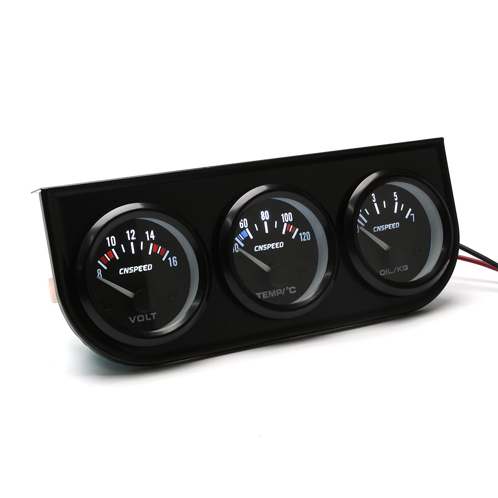 52mm combination 12V water temperature voltage v oil pressure gauge temperature sensor racing gauges china atvauto amp meter in Water Temp Gauges from Automobiles Motorcycles