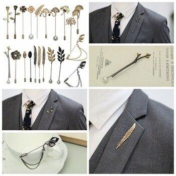 i-Remiel Tree Leaves Animal Pearl Rose Long Needle Brooch for Men Women Shawl Cardigan Pins & Brooches Shirt Collar Accessories grande bolsas femininas de couro