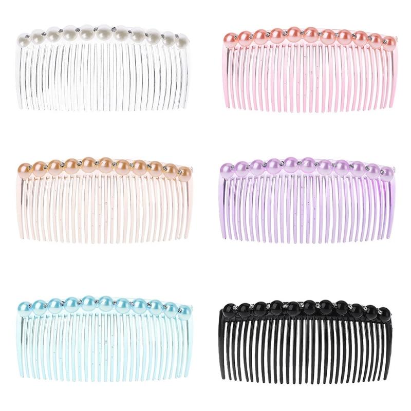 11x5cm Women Lady Plastic 29 Teeth Fancy DIY Hair Comb Clip Slide Hairpin Accessories 6 Color