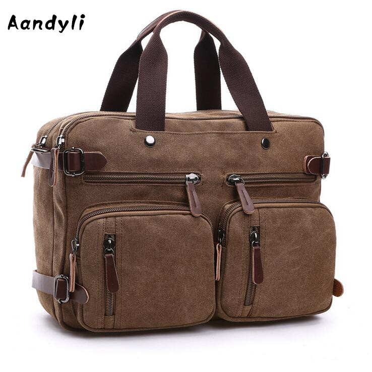 Laptop Shoulder bags Men's Handbags Multifunctional Crossbody bag Travel Canvas Messenger bags women handbag shoulder bag messenger bag casual colorful canvas crossbody bags for girl student waterproof nylon laptop tote