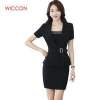 Women Skirt Suit New Spring Fashion Professional Summer Elegant Formal Blazer And Skirt Office Ladies Plus Size Uniforms