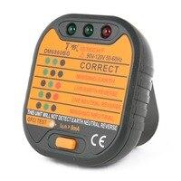 Nuova Vendita Calda DMiotech PM6860 Serie Socket Tester Spina DEGLI STATI UNITI w GFCI Test Automatico di Energia Elettrica Diagnostico Rivelatore del Tester 90 v-120 v