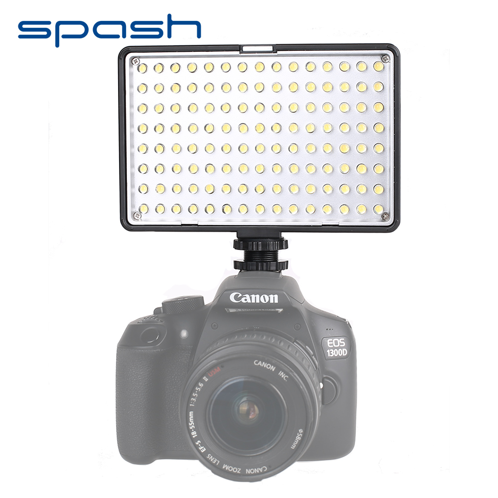 spash TL-120 Professional Photographic Lighting LED Video Light 120 LEDs 3200K/5600K Dimmable Hand-held Studio LED Light Lamp spash tl 336as led video light dimmable 3200k 5600k photographic lighting hand held studio light lamp for canon nikon olympus