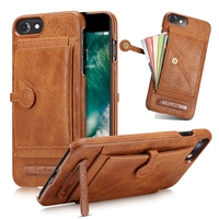 PU Leather Case For Iphone 6 6s 7 8 Plus X Wallet Case Bag Foldable Stand