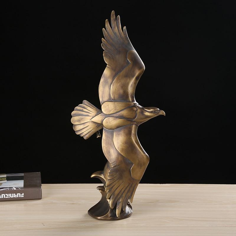 Fliegenden Adler Skulptur Handgemachte Polyresin Fisch Fang Hawk Statue Falcon Decor Geschenk und Handwerk Ornament Zubehör Ausstattung