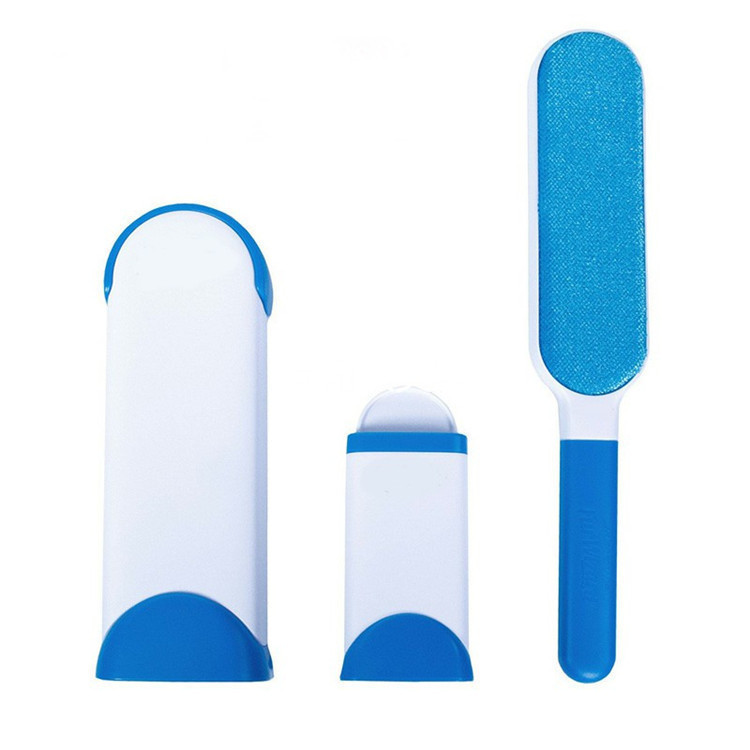 Pet Hair Remover Brush Fur And Lint Removal Brush with Self Cleaning Base Cleaning Slicker Brush