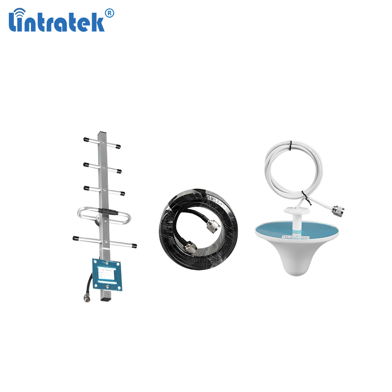 Lintratek Antenna Set 8dB Outdoor Yagi 3dB Indoor Ceiling Antenna 10 Meters Cable For 850Mhz 900Mhz Gsm 2g 3g Signal Booster #6