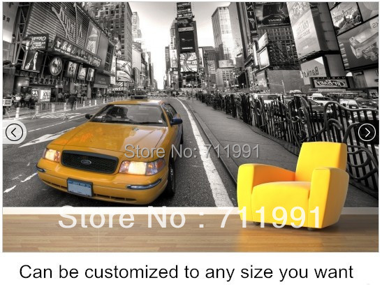 14 37 47 De Reduction Photo Personnalisee Fond D Ecran New York Taxi Pour Le Salon Hotel Restaurant Fond Mur Etanche Papel De Parede Dans Fonds