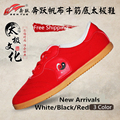 New Arrival 3 Color Brand Quality Canvas Taiji Taichi Tai Chi Shoes Kung Fu Wing Chun Slipper Martial Art Sports Sneaker Shoes
