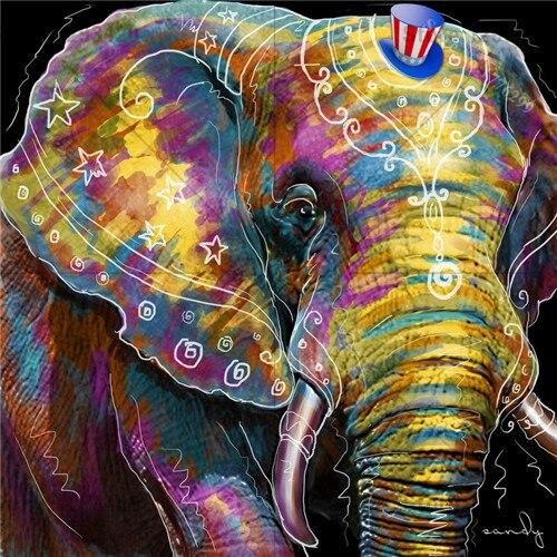 Diamond Embroidery animal serise elephant DIY Painting Home Decor painting pattern Handwork Rhinestone Square 100% Full