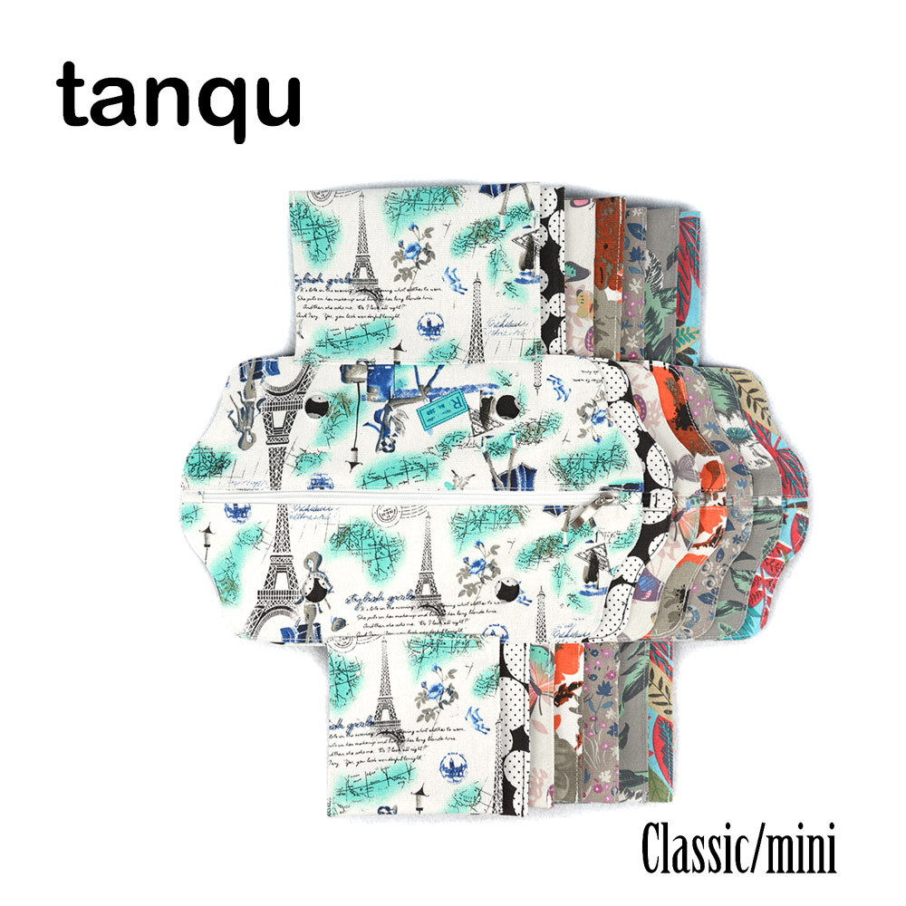 Tanqu Canvas Fabric Zip Top Street False Inner Classic Mini Lining Insert For Obag Standard Mini O Bag Women's Handbag Accessory