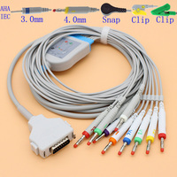 DB15 pins ECG EKG 10 leads FX 101 cable and electrode leadwire for ECG Fukuda Denshi/Customed/Bosch patient monitor.