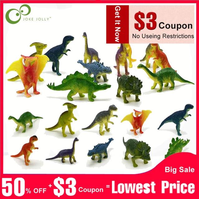 12 pcs Mini Dinossauro Animais de Brinquedo de Simulação de Jogo Jurássico Dinossauro Modelo Figuras de Ação Clássico Antigo Coleção Para Meninos GYH