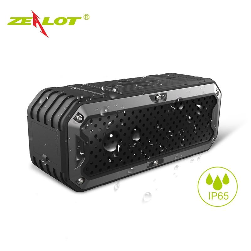 ZEALOT S6 Impermeable Altavoz Portátil Altavoces Bluetooth Inalámbricos Controla