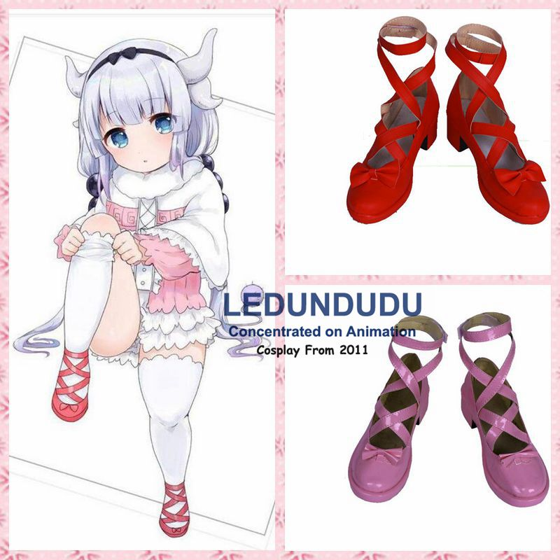 2017 Anime Kobayashi san Chi no Maid Dragon Cosplay Shoes Kanna Shoes Customize Miss Kobayashi's Dragon Maid Kanna Boots