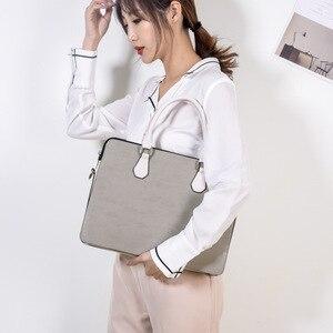 Image 5 - กระเป๋าแล็ปท็อปสไตล์สำหรับสตรี 15.6 15 14 13.3 13 นิ้วPUหนังคุณภาพสูงกระเป๋าคอมพิวเตอร์ 2019