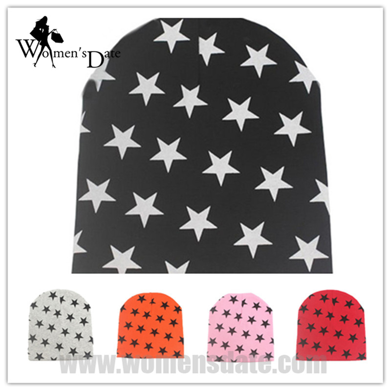 WomensDate 2017 Spring Autumn Children Hat Baby Unisex Beanie Star Print Toddlers 100% Cotton Knitted Cap 1Pc Royal Blue  womensdate hot sale 1pcs winter autumn black crochet hat girl boy cap beanie star infant cotton knitted toddlers children hat