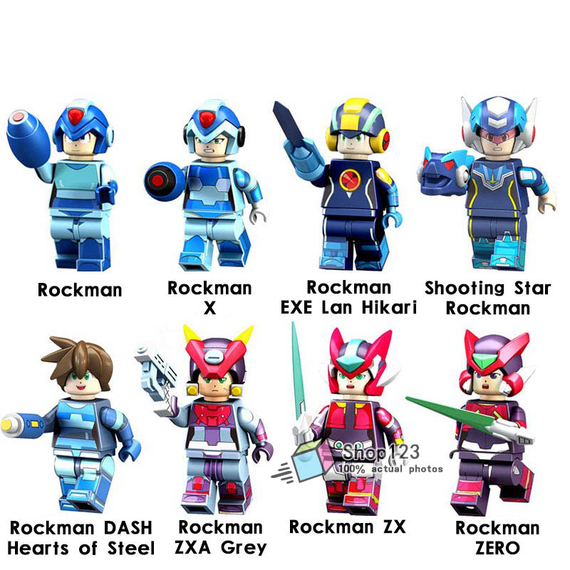 Legoing Mega Blocks Mega Man Yuanzu Rockman Zx Light Hot Bucket Meteor Legoing Figures Bricks Building Blocks Toys For Children Price Remains Stable Model Building