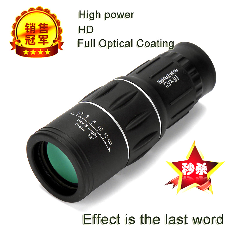 High Power HD Monocular Telescope 16X52 Sniper Binoculars Tourism Spyglass LLL Night Vision For Camping Hunting Child Gift