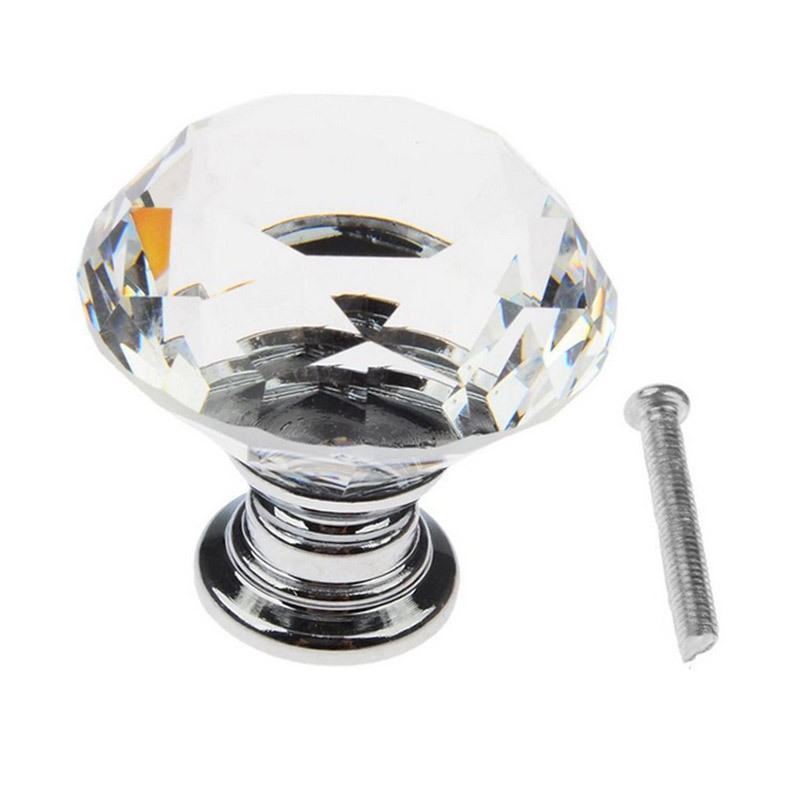 4/6/8/12/16 Pcs/Set Mini Clear Crystal Glass Knobs With Screws Door Handle For Drawer Cabinet Cupboard Wardrobe Accessories css clear crystal glass cabinet drawer door knobs handles 30mm