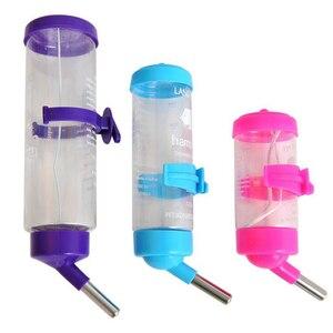 Image 2 - 80 мл 150 мл 250 мл продукт ПЭТ пластиковая Питьевая Бутылка Фидер хомяк кролик вода подвесная бутылка распылитель для воды