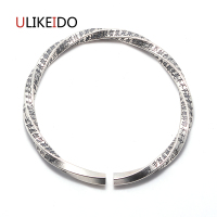 100 Pure 925 Sterling Silver Bangle Fashion Punk Hand Chain For Men And Women Sprcial Jewelry