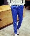 Новые Марка Мужчины Брюки Шнурок Полосатый Повседневная Люди Уменьшают Активные Дышащие мужские гарем брюки