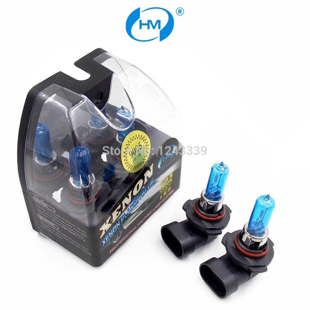 HM Ксенон плазменным супер белый свет 9005 12 В 100 Вт галогенные автомобильные головы Лампочки лампы (пара)