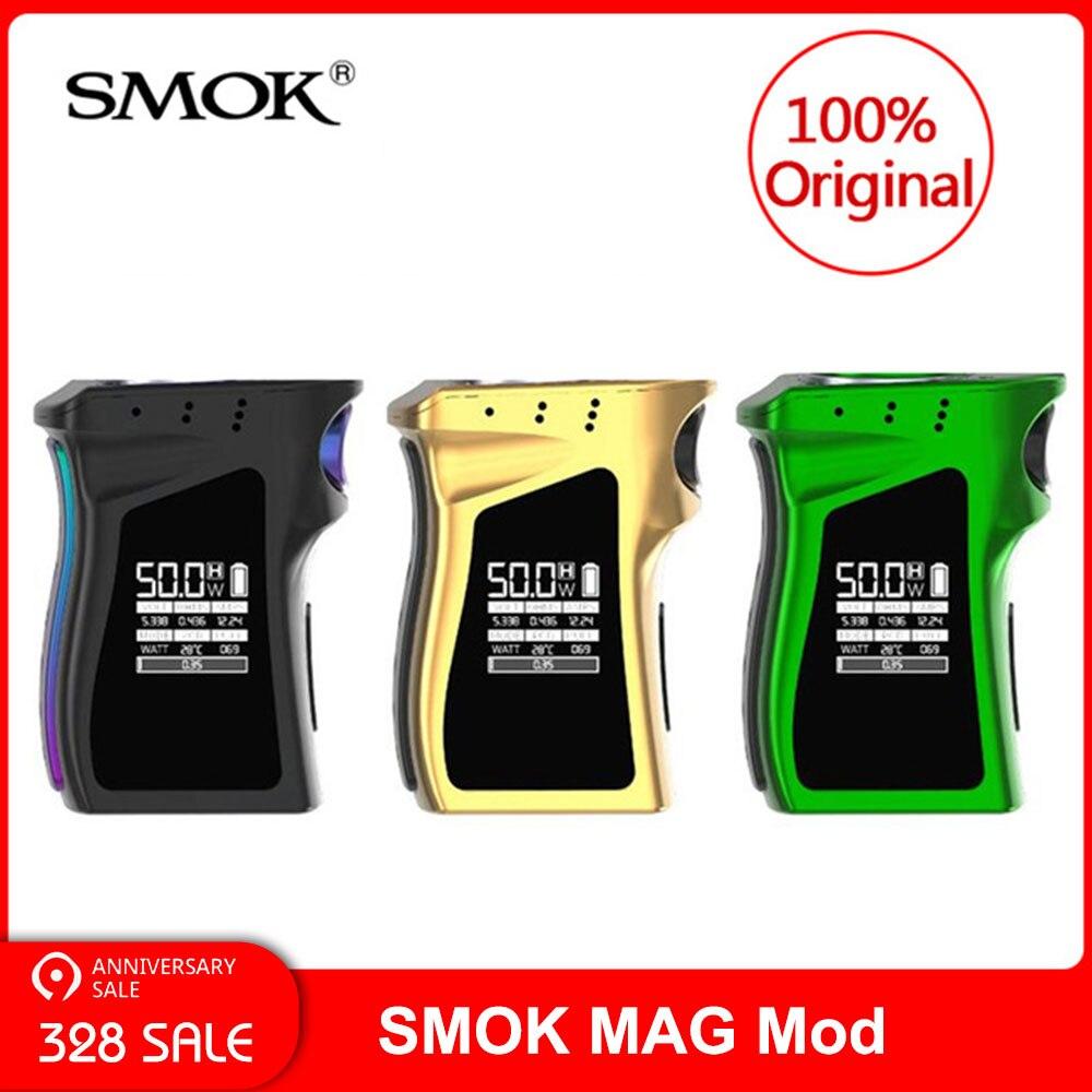 Original SMOK MAG Mod édition gaucher 225 W + 18650 batterie VW/TC Vape Mod boîte pour cigarette électronique smok vape mag mod