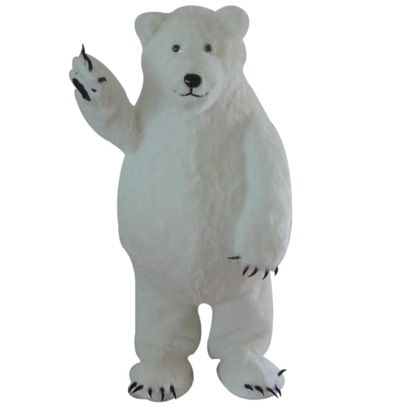 Custom Made Bianco Polar Bear Costume Della Mascotte White Bear Cosplay Della Mascotte Costume per Halloween