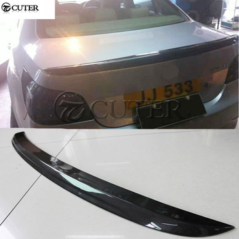 E60 5 series M5 style Carbon fiber Car Rear Wings Trunk Lip Spoiler For BMW E60 520i 525i 530i car body kit 05-09 image