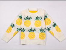 INS nouvelle Hiver pineapplepattern de L'europe Enfants chandail garçon fille à manches longues vêtements bébé coton à tricoter top
