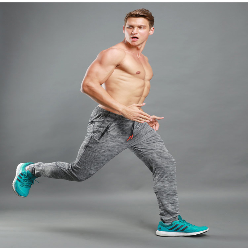 Men full sportswear running Pants Elastic Mens Fitness Workout Pants Loose Sweatpants Tr ...