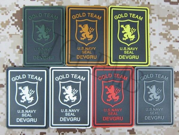 DEVGRU U.S.NAVY SEAL GOLD TEAM Military Tactical Morale 3D PVC patch Badges Black Red Green Grey Tan Luminous