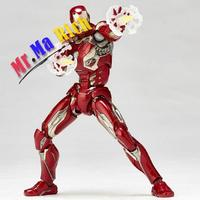 Animation Figure Iron Man Mk45 Juguetes Pvc Action Figure Brinquedos Iron Man Model Doll Toys 15cm