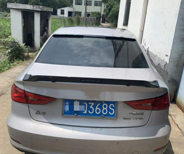 For Audi A3 Car Rear lip Spoiler R style sedan 2013 to 2018 ABS Plastic Unpainted Color Rear Trunk Wing Lip Spoiler