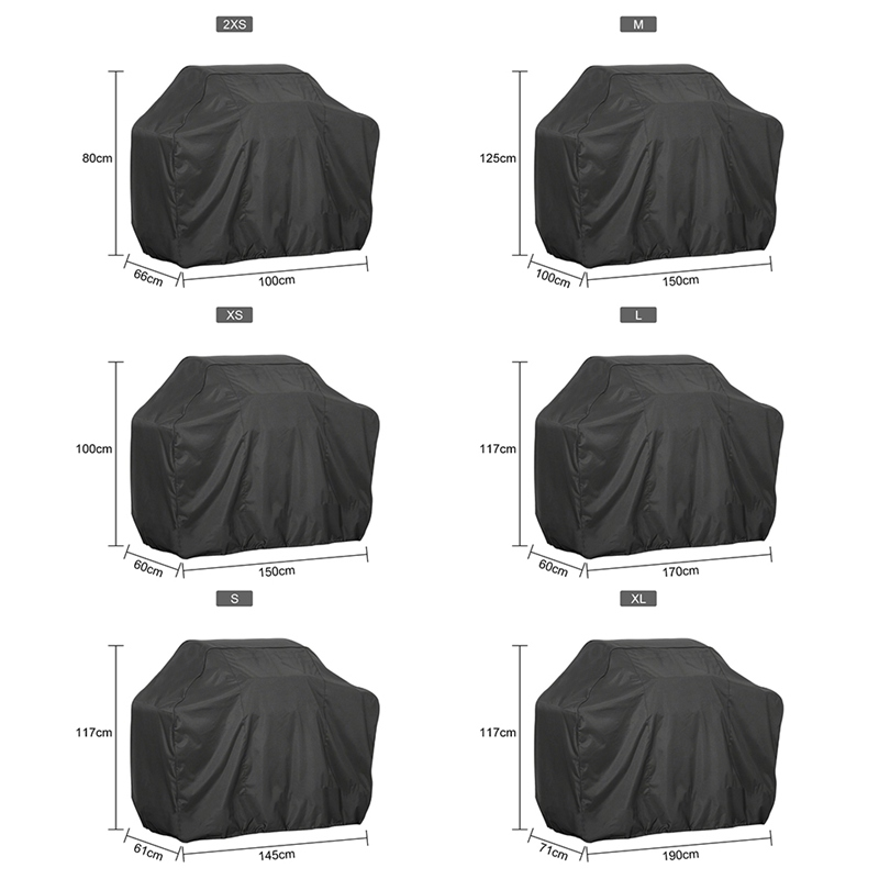 1pcs Waterproof BBQ Cover BBQ Accessories Grill Cover Anti Dust Rain Gas Charcoal Electric Barbeque Grill