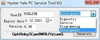 2016 Newest Version Hyster Yale PC Service Tool v4.xx keygen,support from 4.82v to 4.88v up+software v4.88-unlock
