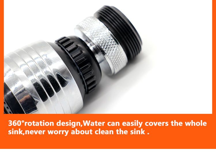 Kitchen Faucet Aerator 2 Modes 360 Degree adjustable Water Saving Nozzle Faucet Connector Shower