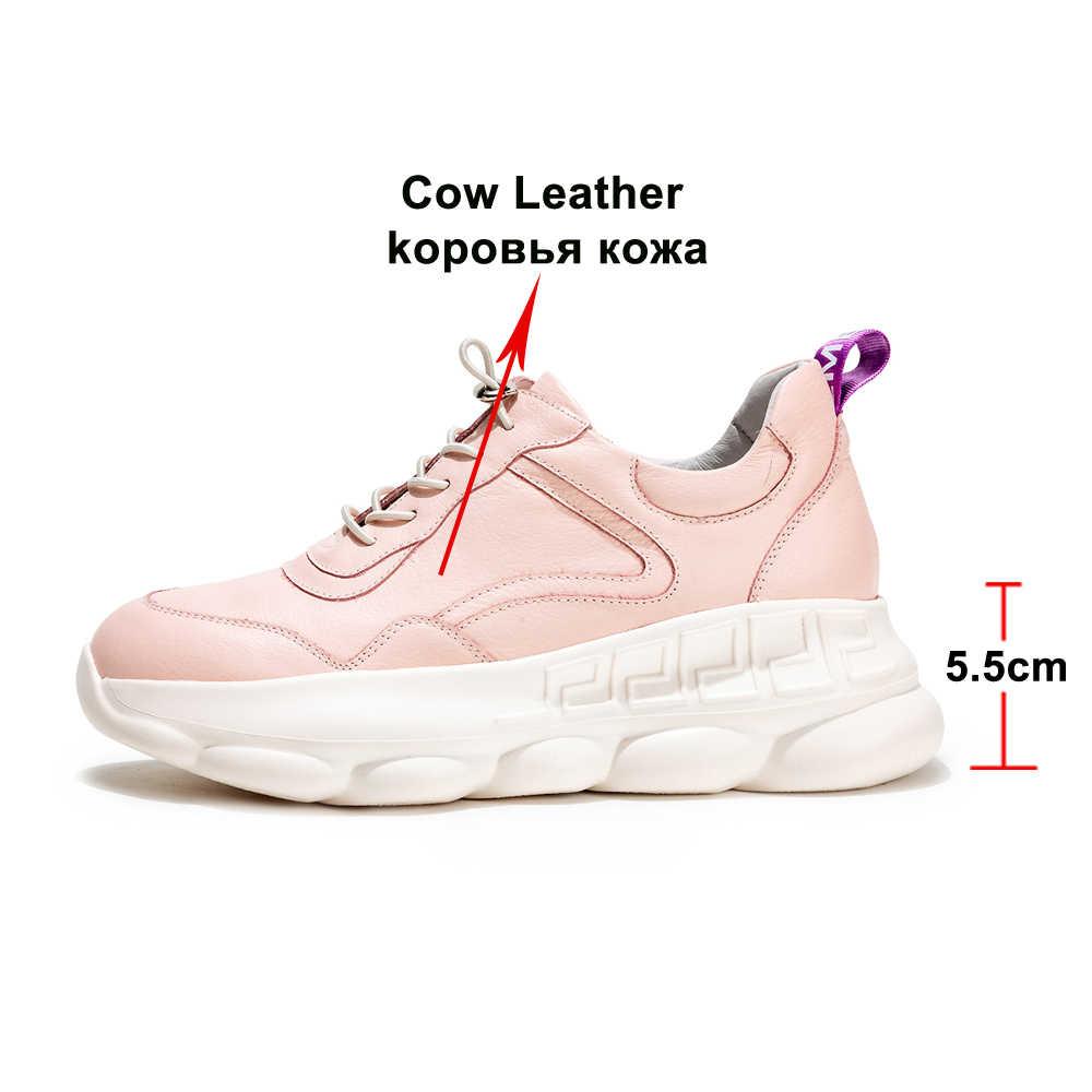 Para Zapatos Mujer Flats De Cuero Genuino Ballet Annymoli